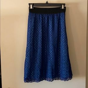 LuLaRoe Lola just-below-the-knee skirt